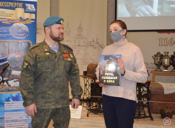 Открытие выставки, посвященной подвигу 6-ой роты.